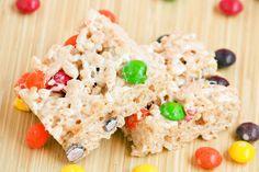Skittles Rice Crispy Squares