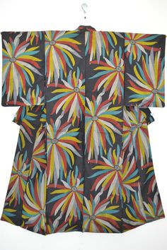 Vintage Silk Wedding Kimono Meisen Colourful Chrysanthemum G52A | eBay
