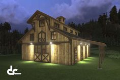 Horse Barns with Living Quarters | Horse Barn Designs