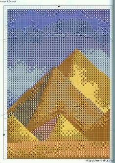 Вышивка крестом в египетском стиле (6) (494x700, 408Kb)