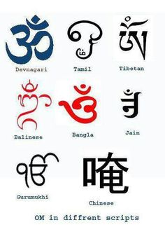 Om in different languages