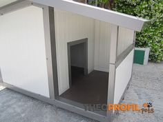 Dog House With Porch, Insulated Dog House, Insulated Panels, Pet Kennels, Dog Houses, Garage Doors, Flooring, Plywood, Outline