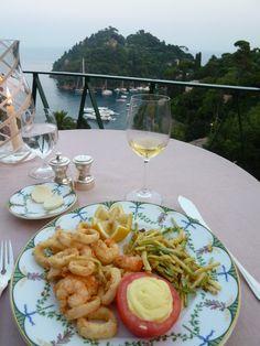 """Cena, Ristorante di """"Hotel Splendito"""", Portofino Liguria Italia (Luglio)"""