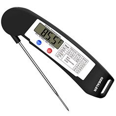 GDEALER Instant Read Thermometer Super Fast Digital Electronic Food Thermometer Cooking Thermometer Barbecue Meat Thermometer with Collapsible Internal Probe for Grill Cooking Meat Kitchen Candy - My Best Deal Today Bone Apple Tea, Best Meat, Digital Thermometer, Cooking On The Grill, Top 5, Grilled Meat, Cooking Tools, Cooking Classes, Outdoor Cooking