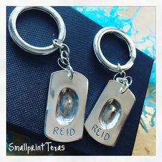 Fingerprint key rings
