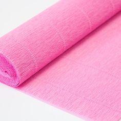 Krepový papír extra silný - 554. růžový.  Šíře role 50 cm, návin 2,5 m  Výrobce: Cartotecnica Roosi - Itálie