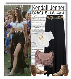 """""""Kendall Jenner at Coachella 2015 - Day 2"""" by anne-mclayne ❤ liked on Polyvore featuring Baldwin, French Connection, B-Low the Belt, Bling Jewelry, John Hardy, Yves Saint Laurent and Valentino"""