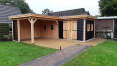 Corner Summer House, Summer House Garden, Posh Sheds, Bbq Hut, Garden Cabins, Outdoor Sauna, Garden Shower, Home Garden Design, Backyard Sheds
