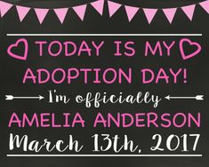 Adoption Announcement Adoption Day Printable Adoption