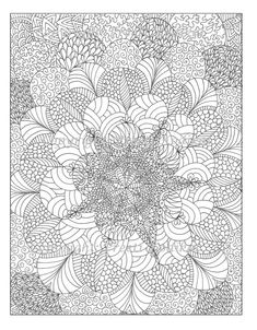 Pen illustration printable coloring page zentangle by memearts