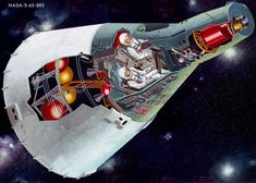 NASA Image From Mercury Mark II to Project Gemini On Jan. the newly announced Mercury Mark II project was renamed Project Gemini. This artist's concept of a two-person Gemini spacecraft in flight shows a cutaway view of the Day Nasa Pictures, Nasa Images, Cosmos, Clipart Photo, Gemini Images, Project Gemini, Nasa Space Program, Nasa Missions, Apollo Missions