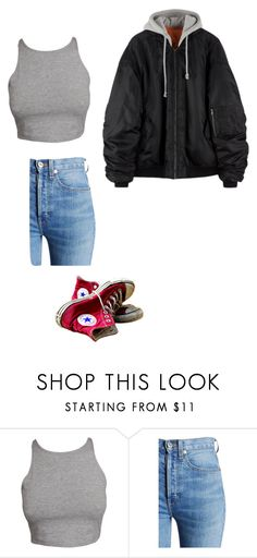 """""""Untitled #599"""" by ericanunes on Polyvore featuring RE/DONE and Converse"""