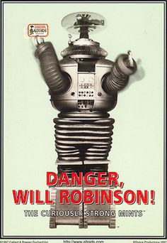 ALTOIDS, LOST IN SPACE ROBOT, DANGER, WILL ROBINSON, POSTCARD