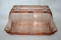beautiful-pink-depression-glass-butter dish.