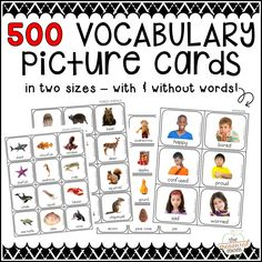 Find 10 fun vocabulary activities that you can try with our set of 500 picture cards!