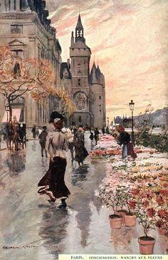Paris 09 - Georges Stein - Conciergerie. Marché aux Fleur