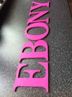 More mdf letters