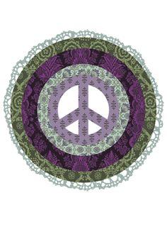 ☮ American Hippie ☮  Art .. Mandala Peace Sign Peace On Earth, World Peace, Peace Of Mind, Peace And Love, Perfect Peace, Peace Sign Symbol, Peace Sign Art, Peace Signs, Peace Symbols