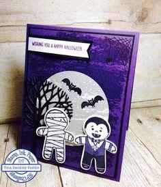 SIP #62 Sketch Challenge, Stamp Ink Paper Challenge, Stampin' Up! Cookie Cutter Halloween, Cookie Cutter Builder Punch, Watercolor Wash Stamp Set Background, Tina's Crop Shop, Handmade Halloween Card
