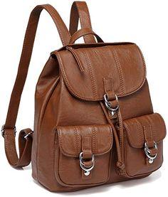 1f24d54e53b7 Amazon.com: Backpack Purse for Women,VASCHY Fashion Faux Leather Buckle  Flap Drawstring. HátitáskaHátizsákok