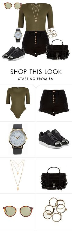 """Untitled #211"" by charlotte-down on Polyvore featuring River Island, NLY Accessories, adidas Originals, Forever 21, Proenza Schouler and Yves Saint Laurent"