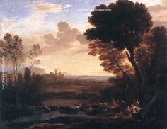 Claude Lorrain Landscape with Paris and Oenone, 1648 painting outlet online, painting Authorized official website