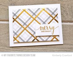 Candy Stripes Background Builder, Hand Lettered Holiday, Rectangle STAX Set 1 Die-namics - Kimberly Crawford #mftstamps