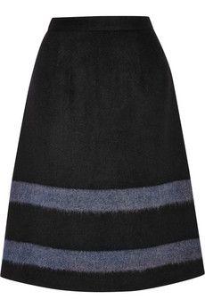 Tibi Striped wool-blend felt skirt | THE OUTNET