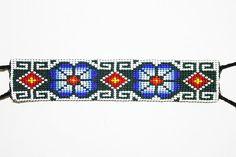 Ethnic Huichol Bracelet Beaded Huichol by BiuluArtisanBoutique Tribal Bracelets, Loom Bracelets, Indian Beadwork, Bead Loom Patterns, Native American Beading, Beading Projects, Peyote Stitch, Loom Beading, Bead Art