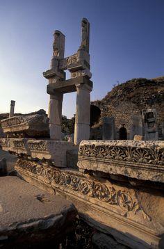 Temple Of Domitian In Ephesus, Turkey