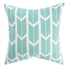 Caitlin Wilson Textiles: TEAL ARROWS PILLOW