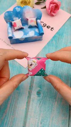 Diy Crafts Hacks, Diy Crafts For Gifts, Diy Arts And Crafts, Creative Crafts, Easy Crafts, Paper Crafts Origami, Paper Crafts For Kids, Crafts For Teens, Instruções Origami