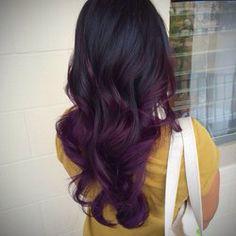 My dream purple baylage  hair