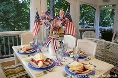 Between Naps on the Porch:  4th of July, Independence Day Tablescape Table Setting