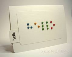 CAS38 Braille Brads by ApricotRose - Cards and Paper Crafts at Splitcoaststampers