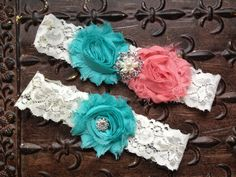coral and turquoise country wedding - Google Search