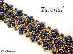 Nuevo tutorial con nuevas perlas de doble dos orificios. Tal vez parece difícil de hacer esta pulsera, pero confía en mí, no es en absoluto. Se trata de