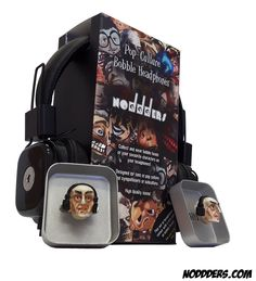 You can wear bobble heads on your headphones. Have you heard of the eccentric non maintream world of geeks? #noddders #bobbleheads #bobbleheadphones  #nosferatu #horror #goth #comics #characters #collection #collectibles