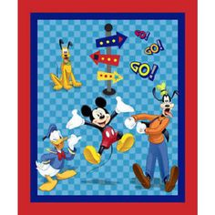 Tecido p/ Patchwork - Disney Mickey Mouse And Friends - Painel