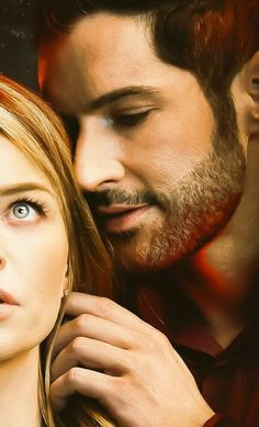 Lucifer and Chloe ❣ Netflix Series, Tv Series, Detective, Chloe Decker, Tom Ellis Lucifer, Lauren German, Dan Stevens, Movie Couples, Morning Star