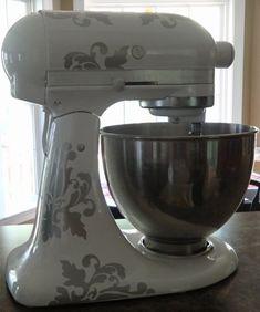 Kitchen Vinyl Decals-Kitchen Mixer Decals-Decorate Kitchen Appliances Sticker on Etsy, $12.00