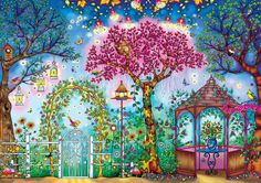 I can't believe the creativity these artists put into their coloring.  Johanna Basfords Secret Garden Songbird Garden