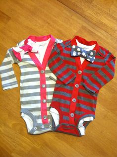 Hey, I found this really awesome Etsy listing at https://www.etsy.com/listing/166567599/twin-boy-and-girls-cardigan-onesie-sets