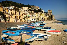 Boats of Cetara - Amalfitan Coast - Italy. Cetara is a town and commune in the Province of Salerno in the Campania region of south-western Italy.  Cetara is located in the territory of the Amalfi Coast.