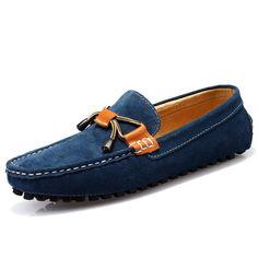 TDA Mens Slipon Fashion Leather Driving Hiking Loafers Boat Stitching Low Top Shoes  KJ583ZCJB