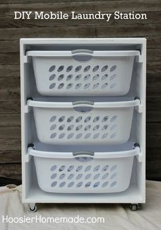 Create a DIY mobile laundry station to simplify your routine.