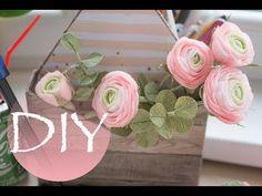 (1) Ранункулюсы из бумаги DIY Tsvoric Ranunculus from paper - YouTube