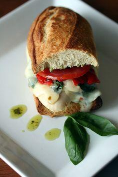 Mozzarella Chicken Sandwich - Cooking Light by LaCuisineHélène,