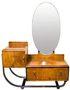 Art Deco Walnut Dressing Table c.1930