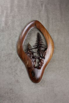 Wood Carving, Walnut, Wood Wall Art, Tree Carving, Nature, Carved by Gary Burns, Wiz, Treewiz, handmade, woodworking